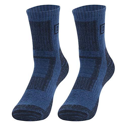 Irypulse Hombres Calcetines Deportes Calcetín Resistente al Desgaste Algodón Suave Cómodo Transpirable 2 Pares