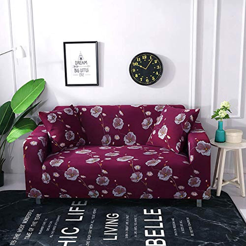 Stretch Elastic Sofa Cover Cotton Sofa Towel Slip-Resistant Sofa Covers for Living Room 1 2 3 4 Seater funda Sofa   colour6, Two-Seater
