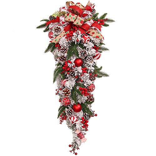 Joyibay Weihnachts Swag Mode Teardrop Dekoration Tür Swag Türdekoration Weihnachtsbedarf