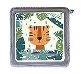 MeinBaby123 Protector para caja Toniebox | Cubierta protectora autoadhesiva | Pegatinas | Accesorios | Tiger en la selva