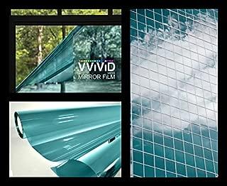 VViViD One-Way Blue Mirror Finish Vinyl Window Wrap Film Self-Adhesive DIY Roll (1ft x 5ft)