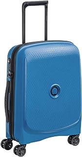 ديلسي حقيبة سفر بعجلات للجنسين، ازرق