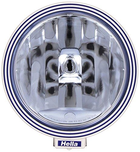 HELLA 1F8 006 800-331 Fernscheinwerfer - Rallye 3000 - FF/Halogen - H1 - 12V/24V - rund - Ref. 17,5 - blaue Streuscheibe - blau - Anbau - Einbauort: links/rechts