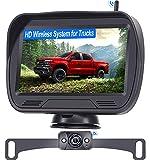 Wireless Backup Camera for Trucks , LeeKooLuu F03 Bluetooth Backup Camera Digital Signals Rear View Camera System for Cars,Campers Super Night Vision IP69 Waterproof DIY Guidelines