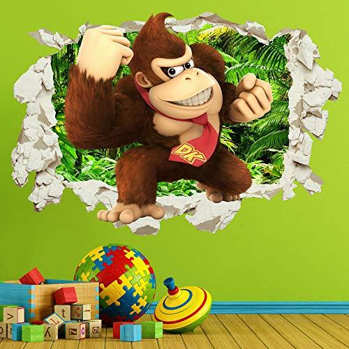 Pegatinas de pared Cocomelon Baby Nursery Rhymes Etiqueta de la pared Calcomanía Smashed Crack Dormitorio de los niños80*120CM
