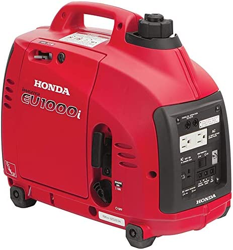 Honda EU1000i Inverter Generator Super Quiet Eco Throttle 1000 Watts 8 3 Amps 120v Red product image
