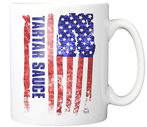 TARTAR SAUCE American Flag Mug Patriotic Gift