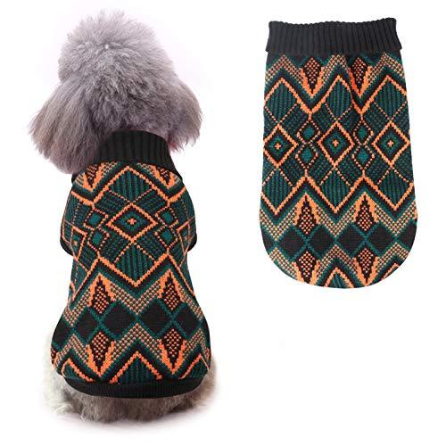 Idepet Haustier Katze Hund Pullover, Winter Hund Mantel Jacke Weste Warmer Haustier Pullover Pullover Kleidung für Kätzchen Rollen Katzen und Hunde