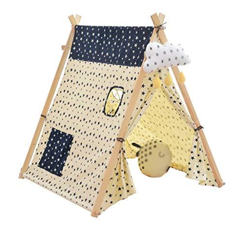 Tents Maison intérieure Jeux for Enfants, Tipi Toy Hut Grand Kids Play Maison Jeux Fun Dream House for Les Enfants (130 * 130 * 100cm) (Size : 130 * 130 * 100CM)