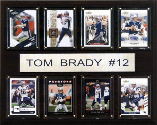 NFL Tom Brady New England Patriots 8 Karten Plakette