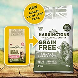 Enhanced, bigger, Amazon exclusive monthly sized bag of dog food, your dog will love Grain Free* Formulation For Sensitive Digestions With Freshly Prepared Salmon, A Good Source Of Protein No Soya, Dairy, Egg, Beef, Pork Or Added Wheat* Beet Pulp & C...