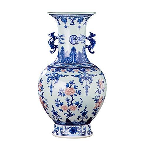 MESYR Keramik Handbemalte handbemalte Qianlong-Vase Antikes blaues und weißes Porzellan Chinesisches Wohnzimmer Dekoration Keramikgefäße