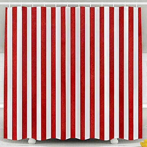 Auld-Shop Duschvorhang-Giftiger Raumteilungs-Vorhang-Aquarell-Roter Gestreifter Hintergrund-Zusammenfassungs-Aquarell Stripes Duschvorhang