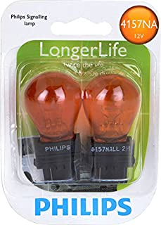 Philips 4157NA LongerLife Miniature Bulb, 2 Pack