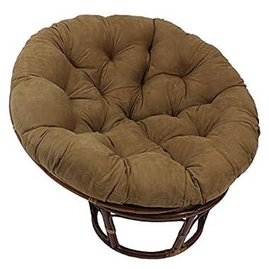 Blazing Needles Solid Microsuede Papasan Chair Cushion, 52  x 6  x 52 , Camel