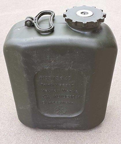 Bundeswehr-Kanister aus Stahlblech mit 20 Liter Füllvolumen