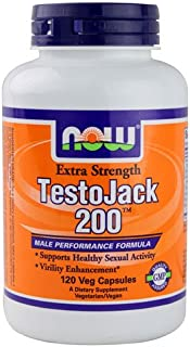 NOW Foods TestoJack Male Performance VCaps, 120 ct (Quantity of 1)