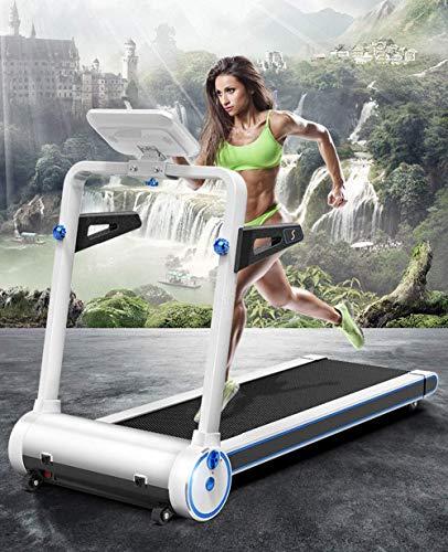 Cinta de correr Pantalla táctil inteligente Inicio Plegable Cinta de correr eléctrica, 1-8km / H Equilibrio ultra-silencioso Absorción de choques Inalámbrico Bluetooth Con conexión Equipo deportivo de