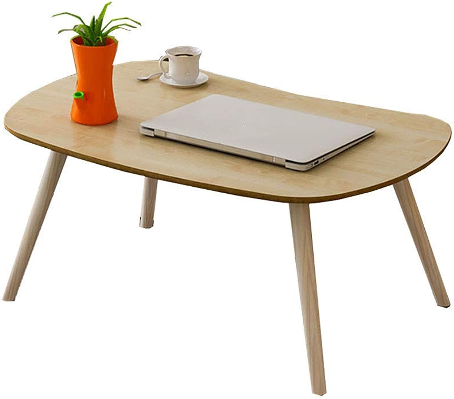 TJTG End Tables Laptop Desk Bed with Bay Window Drinking Tea Table Small Table Student Lazy Table Simple Desk Solid Wood Legs Home Office Desk