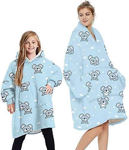Manta con capucha de doble forro polar mullida para el día de la madre, ideal para mujeres, hombres, niños y niñas con bolsillo grande