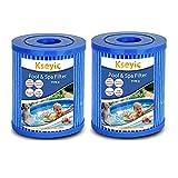 Kseyic Filtro de piscina para Bestway Tipo 2, cartucho filtro de piscina, filtros de filtro para piscina Bestway Tipo II, elemento filtrante antibacteriano (2 unidades)