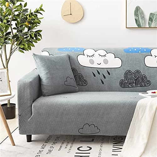 WXQY Funda de sofá elástica con Estampado Floral, Esquina de la Sala de Estar, sillón en Forma de L, Todo Incluido, Chaise Longue, Manta de sofá A8, 1 Plaza