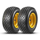 Set of 2 16x6.50-8 Tires and Wheels Assembly for Lawn Mower Tractors, 3' Centered Long Hub with 3/4' precision ball bearings