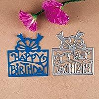 お誕生日おめでとうプレゼントメタルカッティングダイステンシルDIYスクラップブッキング/フォトアルバム装飾エンボスDIYペーパーカード