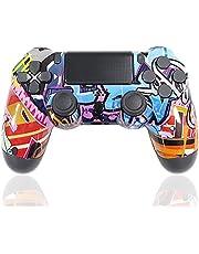 Mando para PS4 Inalámbrico, Controlador de Juegos con vibración Dual/Joystick de Juego/Conector para Auriculares/Sensor de Seis Ejes, para PS4 / Pro/Slim / PS3