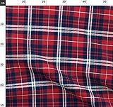 Schottenkaro, Flanell, Rot, Marineblau, Weiß,