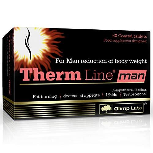 Therm Line Men | Thermogenic Fat Burner for Men | Weight Loss | Faty Tissue Reduction (60 Capsules)