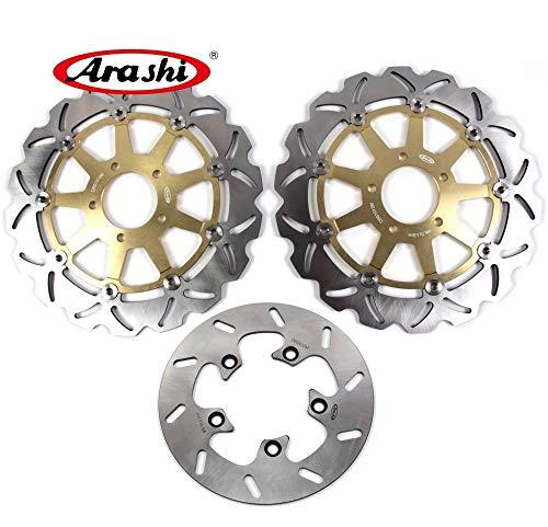 Arashi Rotores de disco de freno delantero trasero para TL1000R 1998-2003 Accesorios de repuesto para motocicletas TL 1000 TL1000 R 1000R TL1000S dorado 1999 2000 2001 2002