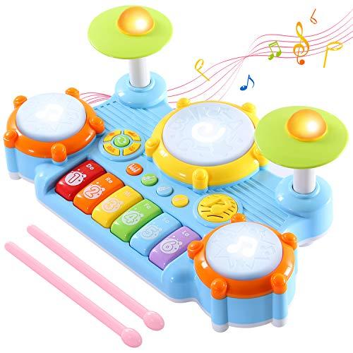 SGILE Piano Juguete con Micrófono para Niños, 31 Teclas Instrumento Educativo Juguete...