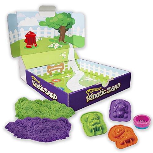Kinetic Sand Doggy Daycare Playset - Arena cinética (Verde, Púrpura, Cualquier género, Perro, Closed Box)