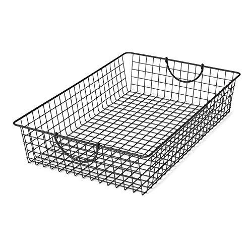 Spectrum Diversified Stowaway Basket, Under Bed Storage, Large, Industrial Gray