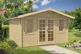 Gartenhaus AINO 40 ISO Blockhaus Holzhaus 400 x 400 cm - 40 mm Ferienhaus