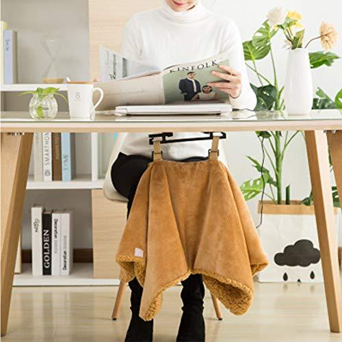 Preisvergleich Produktbild USB beheizt Warm Wrap elektrische Heizung kleine Decke nach Hause,  Büro bequem Gadgets & Geschenke USB beheizt Schal und Runde Decke, Brown