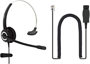 $46 » Avaya Headset HD Voice with HIS Adapter Compatible with Avaya 1600, 9600, J100 Series IP Phones Model, Plus 3.5mm Connecto...