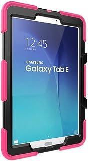 WiTa-Store Funda para Samsung Galaxy Tab S T560Cover 9.6Pulgadas 3in1antigolpes híbrida sm-t560rígida y Suave Silicona Carcasa Funda Case Rosa Rosa