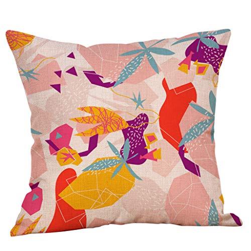 Arystk Pillowcase Summer Sunny Refreshing Pattern Sofa Cushion Cover Household Decoration