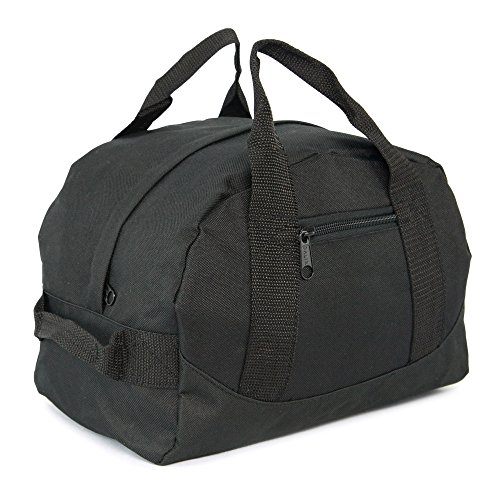 12″ Mini Two Tone Duffle Bag (Black)