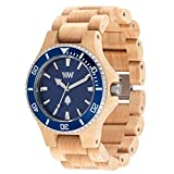 Orologio in legno Wewood Ghiera Acciaio Date MB Beige Blue 70362237