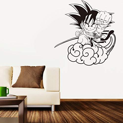 Cartoon Dragon Ball Zon Wukong zomerzuilen wolk vinyl muursticker wooncultuur kinderkamer behang afneembare muursticker 57 * 61cm