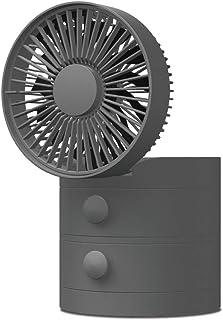 ドウシシャ 卓上扇風機 引き出しデスクファン 風量3段階 USB電源 ピエリア グレー FSV-113U GY