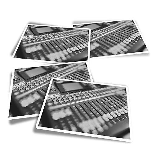 BW #37349 - Adesivi rettangolari in vinile (confezione da 4) - Mixer analogico parametrico equalizzatore divertente decalcomanie per computer portatili, tablet, bagagli, libri di rottami, frigoriferi
