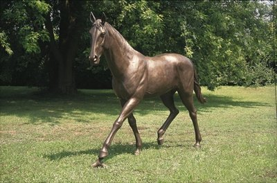 Bronzepferd in Lebensgröße