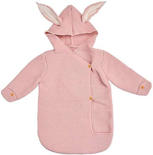 WYJW Baby slaapzak, schattige konijnenoren gebreide warme slaapzak kinderwagen anti-kick inleg, B