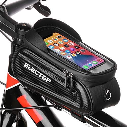 Electop Bike Phone Front Frame Bag Bicycle Top Tube Handlebar Bags Waterproof Cycling Phone product image