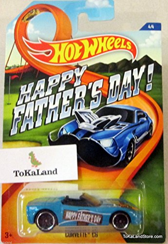 D4-5 Hot Wheels Happy Father's Day Blue Corvette C6 4/4 ^G#fbhre-h4 8rdsf-tg1325276