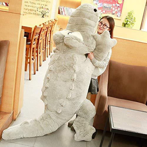 L&WB Shaggy pluche speelgoed zachte krokodil pop knuffelbaar slaapkussen cadeau